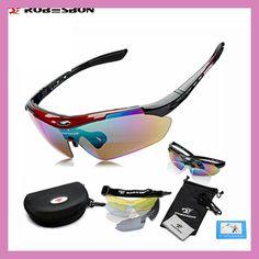 cb1a87d13ea62 ROBESBON Sport Bike Bicycle Men Women Polarized Sunglasses Goggles Glasses  Eyewear 5 Lenses Oculos Occhiali Ciclismo