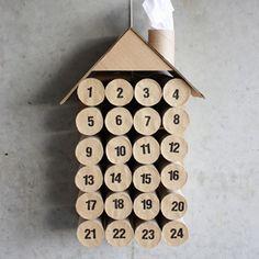 DIY Toilet Paper Roll Christmas Calendar