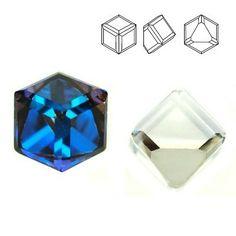 4841 Cube 4mm Bermuda Blue Z  Dimensions: 4mm Colour: Bermuda Blue Z ( Crystal BBL Z ) 1 package = 1 piece 1 Piece, Cube, Swarovski, Crystals, Color, Jewelry, Colour, Jewlery, Jewels