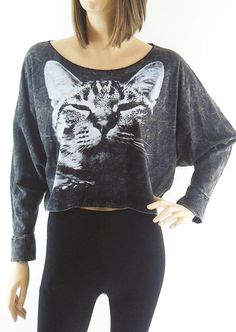 Cat TShirt Cat sweater Cat Shirt Animal Style Bat by sinclothing, $18.99
