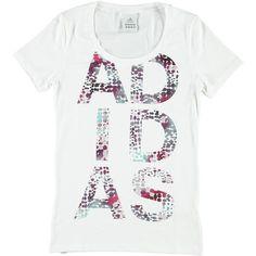 T-shirt manica corta elasticizzata con logo Adidas in fantasia pois - € 22,50 | Nico.it