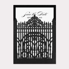 Save The Dates - Laser Cut Gate | B Wedding Invitations
