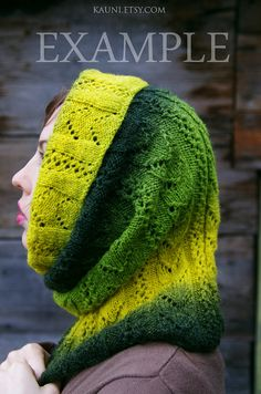 Kauni Wool Yarn Color EK Self Striping Green Yellow by Kauni