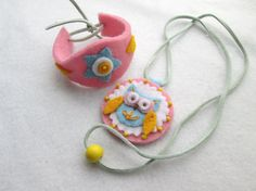 Girl's pendant necklace and bracelet set embroidered by RALOOLAND