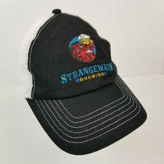 Strangeways Brewing Brewery Trucker Hat Cap Mesh Snapback Richmond VA Black Beer #BreweryBrandingCo #BaseballCap Bohemian Beer, Hats For Sale, Caps Hats, Brewery, Baseball Cap, Snapback, Mesh, Ebay, Black