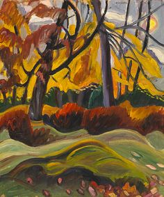 """Heward produced several landscape paintings during her lifetime. """"Autumn Landscape,"""" c. 1941, National Gallery of Canada."""