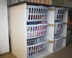 Homemade laundry organizer