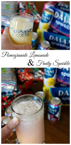 Pomegranate Lemonade & Fruity Sparkle recipe - I love sparkling drinks at the holidays.  These sound delicious! #SparklingHolidays #ad