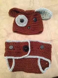 Puppy Diaper Cover by AuntAnniesCrochet on Etsy, $20.00