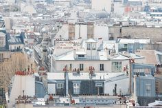 #paris #rooftops #montmartre #everydayparisian #french Paris Photography, Montmartre Rooftops, soft blue and grey tones, Paris, France, French Wall Decor,Parisian, Summer in France by rebeccaplotnick on Etsy