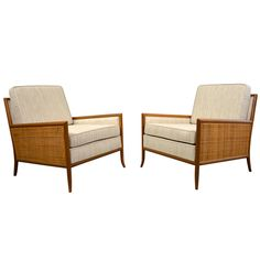 Pair of Lounge Chairs by T. H. Robsjohn-Gibbings   From a unique collection of antique and modern lounge chairs at https://www.1stdibs.com/furniture/seating/lounge-chairs/