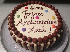 Gâteau d'anniversaire coloré !