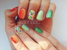 Colorful nail design shellac cnd