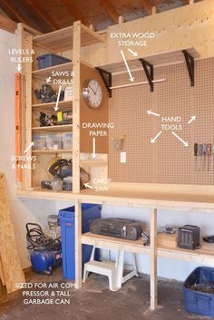 Awesome 60 Clever Garage Organizations Ideas https://lovelyving.com/2017/11/29/60-clever-garage-organizations-ideas/