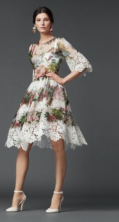 Dolce and Gabbana. Is there anything in this world more perfect than this dress?