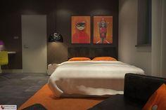 [PL] Aranżacja sypialni wystrój nowoczesny w kolorach brązowy, czarny, pomarańczowy - projekt wnętrza o id 6637171 w Homplex.pl, Zestaw wyposażenia za 13561 zł    [EN] Bedroom arrangement, modern style, brown, black, orange color - interior design id 6637171 in Homplex.pl, products set for $4238
