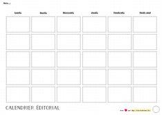 Bullet journal - calendrier éditorial blog