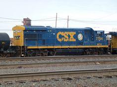 CSX GE U36B Diesel Locomotive.
