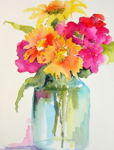 25 Beautiful Watercolor Flower Painting Ideas & Inspiration Painting with watercolors can be difficult. Luckily, here's a list of 25 Beautiful Watercolor Flower Painting Ideas and Inspiration. Easy Watercolor, Watercolour Painting, Watercolor Flowers, Painting & Drawing, Watercolors, Watercolor Pictures, Watercolor Artists, Painting Lessons, Watercolor Portraits