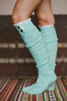Super soft and breathable, our open knit boot socks top off your look. These beautifully trimmed over-the-knee socks with vintage inspired crochet