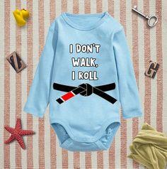I Don't Walk I Roll, Baby onesie, baby Boys clothing, Baby Bodysuit, Personalized Baby Bodysuit, Wild Child Style, Baby Gift, Custom onesie