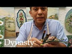 Tecnica de Uso del Pincel para Pintar Flores - Hogar Tv por Juan Gonzalo Angel - YouTube