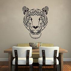 Animal Vinyl Wall Decal Sticker Large Tiger Face (Black) Geckoo http://www.amazon.com/dp/B00LFJLDYW/ref=cm_sw_r_pi_dp_xByuub19C2BQX
