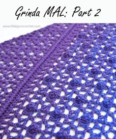 LillaBjörn's Crochet World Crochet Pattern Free, Crochet Lace, Crochet Stitches, Crochet Patterns, Crochet Prayer Shawls, Crochet Shawls And Wraps, Waffle Stitch, Bobble Stitch, Crochet World