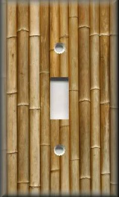 Light-Switch-Plate-Cover-Wall-Decor-Asian-Bamboo-Image-Brown