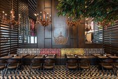 Restaurant Design - When Classic Meets Contemporary Indian Interior Design, Restaurant Interior Design, Shop Interior Design, Cafe Design, Interior Decorating, House Design, Restaurant Interiors, Office Interiors, Back Bar Design