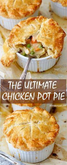 Chicken Pot Pie Filling, Best Chicken Pot Pie, Chicken Pot Pie Casserole, Chicken Pop Pie, Casserole Recipes, Healthy Chicken Pot Pie, Hamburger Casserole, Cheesy Chicken, Grilled Chicken