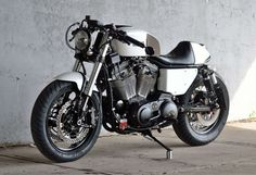 """Harley-Davidson XL883 Cafe Racer """"Killer Cafe"""" by Kustom Research #motorcycles #caferacer #motos 