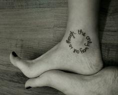 Circle Tattoos | through # circle # words # cursive # cute # ankle # foot # tattoo ...