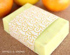 10 Minute Gift Idea: DIY Natural Citrus Antibacterial Soap via @hiHomemadeBlog