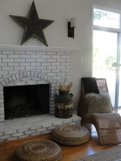 painted brick homes before and after | Painting Fireplace Brick Before And After | Brick Fireplace Ideas