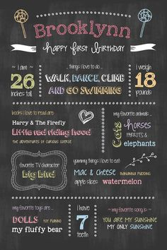 Happy Birthday Chalkboard Template | Chalkboard Ideas | Pinterest ...