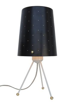 'Etoile' table lamp :   Diameter = 15cm Height = 33.5cm   Perforated metal with gold interior