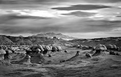 Mitch Dobrowner is a photographer from Los Angeles, specializing in black and white landscape photography. Mammatus Clouds, Goblin Valley, Black And White Landscape, Ansel Adams, Landscape Photography, Angeles, Utah, Landscapes, Geology