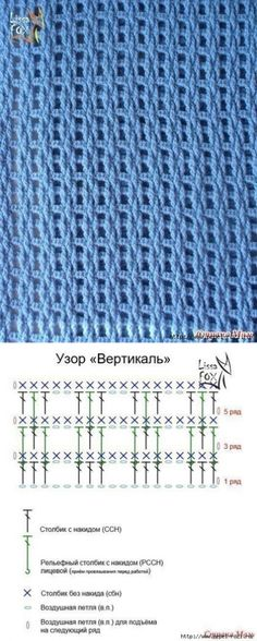 Crochet Diagram, Crochet Chart, Crochet Motif, Crochet Doilies, Free Crochet, Knit Crochet, Afghan Patterns, Crochet Stitches Patterns, Stitch Patterns