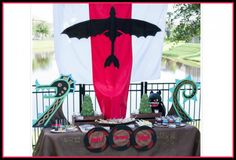 Decoration / Table setting for How To Train Your Dragon party