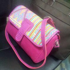 Dahlia Sling Bag Materials : Phyton, Velvet & Batik