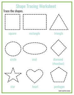 23 best Shape Tracing images on Pinterest | Free printable ...