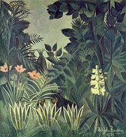Dschungel am Äquator - von Henri Rousseau