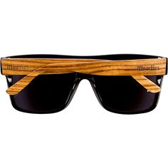 2f898bb17 WOODIES Zebra Wood Aviator Wrap Sunglasses with Black Polarized Lenses *  Learn more by visiting the · Ray Ban ...