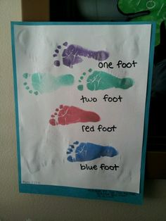 I did this with my infant room today for dr. Seuss week... It says in bottom right corner thats its inspired by dr seuss