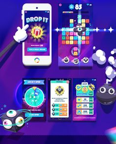 Drop it - mobile game mobile ui, mobile game, game ui design, map design, i