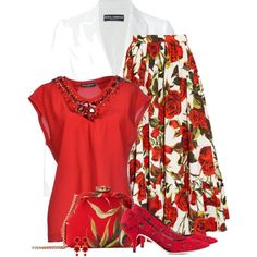 Untitled #4143 by barbarapoole on Polyvore featuring polyvore, fashion, style and Dolce&Gabbana