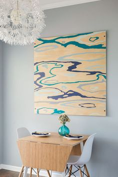 How to turn a sheet of plywood into a beautiful piece of art - An Easy DIY Wood Grain Painting & 3-D Mounting - Charleston Crafted