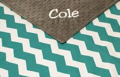 Love the colors!!  Chevron Blanket Personalized Minky Blanket, Chevron Baby Blanket on Etsy, $36.00