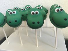 The Good Dinosaur Cake Pops